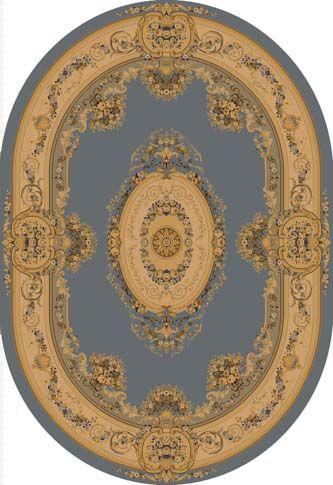 Ковер шерстяной Floare BUSHE 210-4544 ОВАЛ 1.5x2.25 м. FLOARE-CARPET