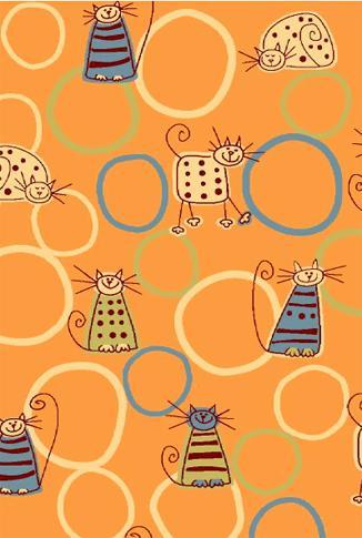 Agnella Ковер детский Fryz-N Feline orange 0.8x1.6 м.