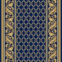Ковровая дорожка полушерстяная PALACE BLUE 1x4 м. Витебские ковры