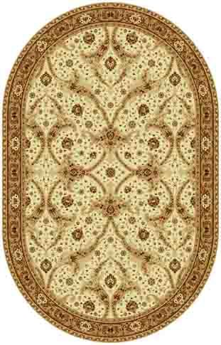 Ковер шерстяной Floare BAGDAD 065-1149 ОВАЛ 1.6x2.3 м. FLOARE-CARPET