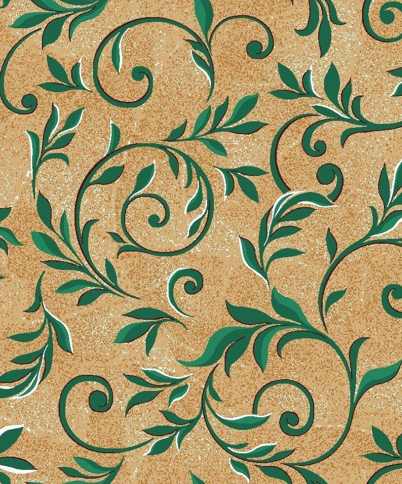Ковер-палас ВЕТКА 36 бежево-зеленый 5x8 м. Витебские ковры