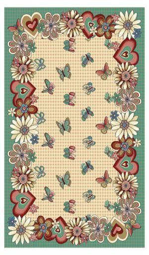 Люберецкие ковры Детский ковер Бабочки  40554-03 2x3 м.