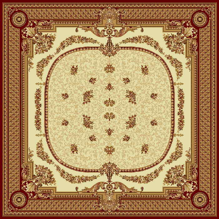 Ковер шерстяной Floare DOFIN 209-1659 КВАДРАТ 2x2 м. FLOARE-CARPET