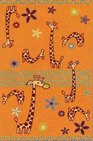 Agnella Ковер детский  Fryz-N Giraffe mandarin 0.8x1.6 м.