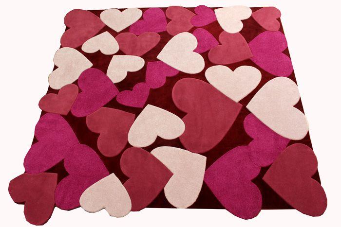 Империалстиль Авторский детский ковер ручной работы SMALL HEARTs 2.65x2.55 м.