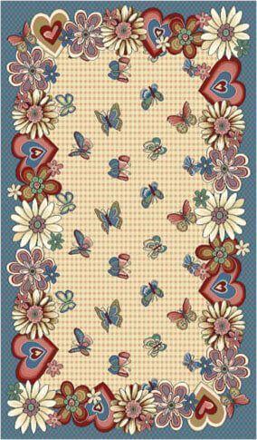 Люберецкие ковры Детский ковер Бабочки 40554-02 2x3 м.