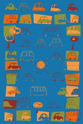 Agnella Ковер детский Fryz-N Traffic azure 0.8x1.6 м.