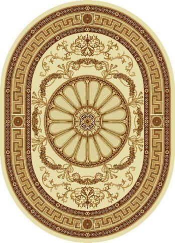 Ковер шерстяной Floare ELITA R 352-1149 ОВАЛ 1.5x2 м. FLOARE-CARPET