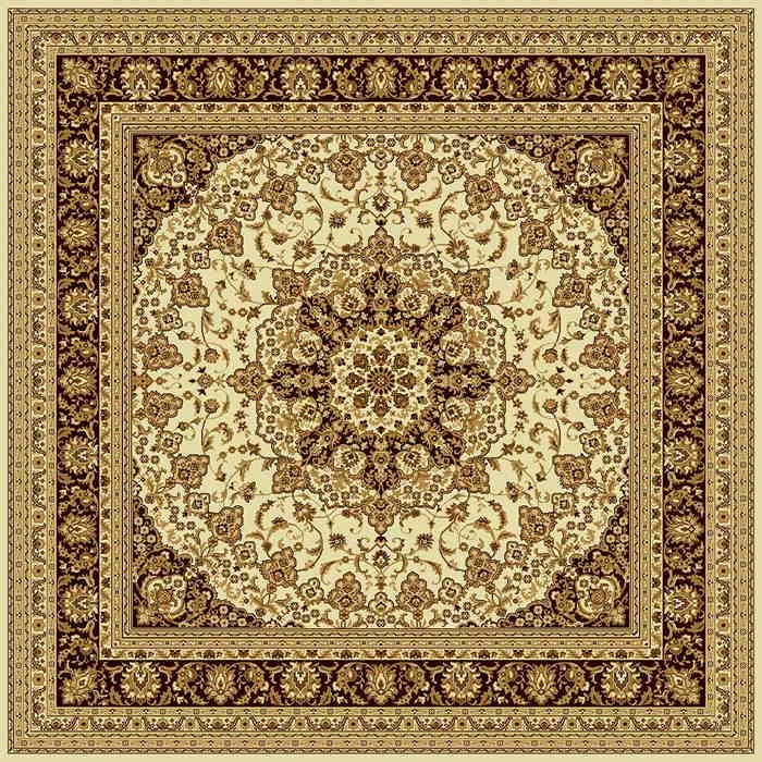 Ковер шерстяной Floare ISFAHAN 207-1149 КВАДРАТ 2x2 м. FLOARE-CARPET