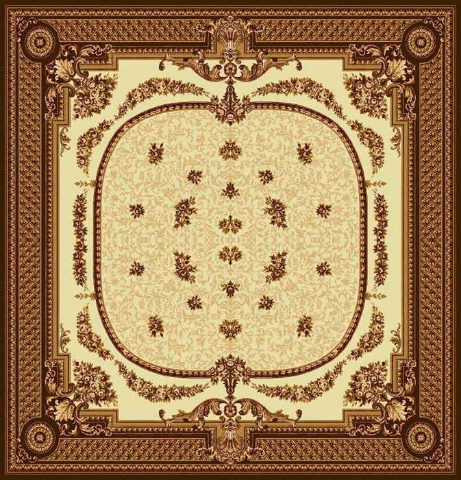 Ковер шерстяной Floare DOFIN 209-1149 КВАДРАТ 2x2 м. FLOARE-CARPET